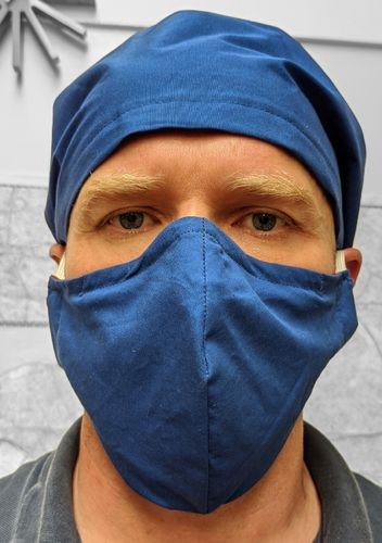 OLSEN FACE MASK FABRIC WITH FILTER POCKET 3 SIZES Manufactured by Ohm Supplies Ltd and MADE TO ORDER